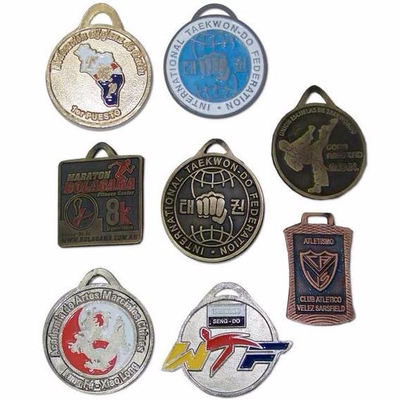 100 Medallas De Metal De 50 Mm Dif Diseños De Metal Maciza