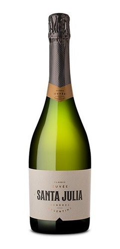 Imagen 1 de 5 de Espumante Santa Julia Classic Cuvee 750ml Vinos Finos