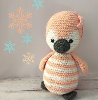 Pingüino De Peluche, Muñeco Tejido De Apego