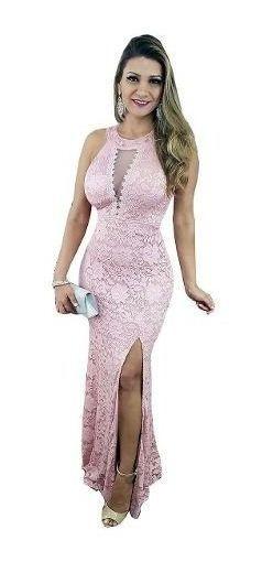 Vestido Festa Madrinha Rose Marsala Tiffany Luxo