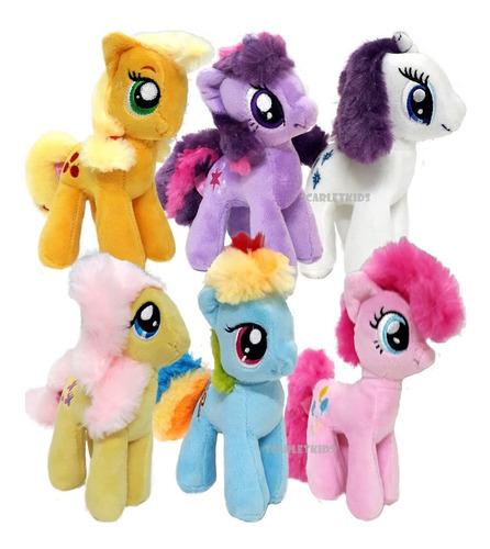 Peluche My Little Pony Combo X6 Original Hasbro 18 Cm