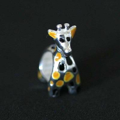 Pingente Prata 925 Girafa Para Pulseira Momentos De Vida
