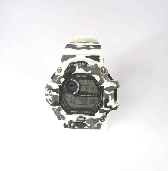 Relógio Masculino Preto C/ Dourado Xj-875d