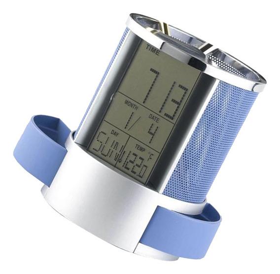 Titular Lápis Caneta Digital Lcd Alarm Relógio Termômetro