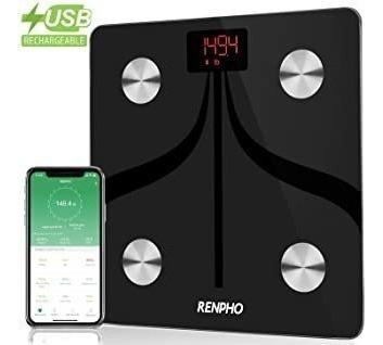 Renpho Bluetooth Body Fat Scale Usb Rechargeable Smart Digit