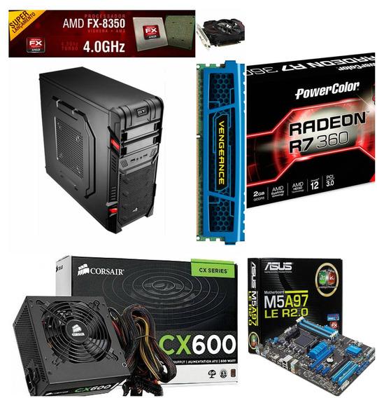 Pc Gamer Amd Fx-8350, R7 360 2gb, 8gb + Gta V+ Roda Tudo