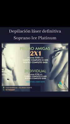 Depilación Láser Definitiva Sistema Soprano Ice Platinum