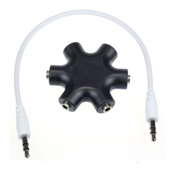 Adaptador P2 Fone De Ouvido Audio 5 Femea Para 1 Macho
