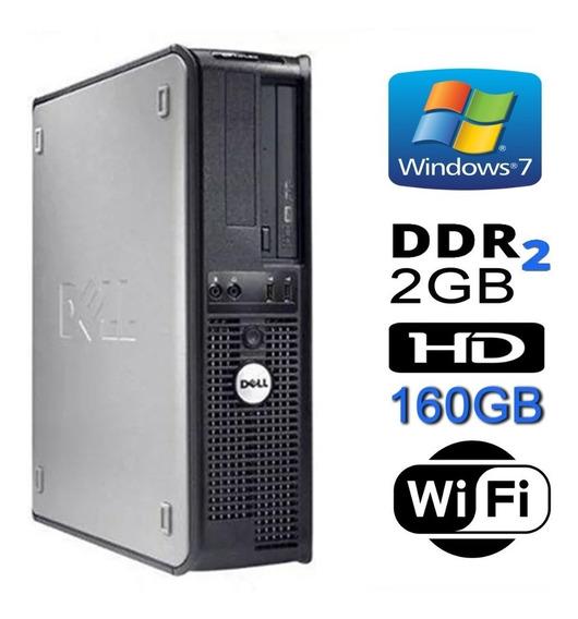 Cpu Dell Core 2 Duo 2gb - Hd160 - Wi-fi - Win 7 + Garantia