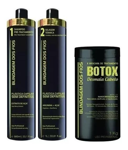 Combo Blindagem Dos Fios Plastica Semi Definitiva + Botox