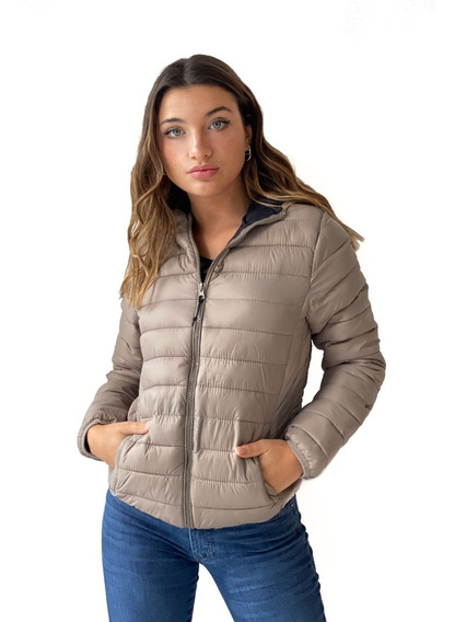 Campera Inflable Con Capucha Klo- Kout Mujer