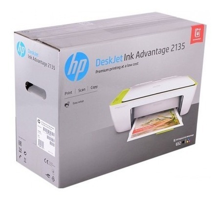 Impressora Hp Deskjet Ink Advantage 2135 Sem Cartuchos