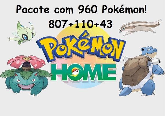 Pacote 807 + 110 Pokemon (pokemon Home) (switch) (promoção!)