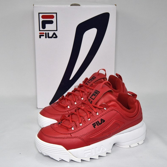 Tenis Fila Disruptor 2 Rojos Importados 100% Originales
