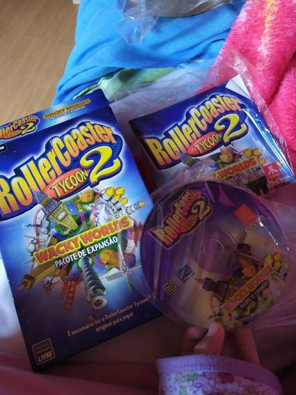 Jogo Pc Roller Coaster Tycoon 2 Wacky Worlds Original