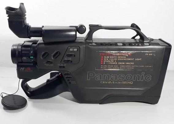 Filmadora Panasonic Pv-610 # Muito Nova C/ Peq. Defeito