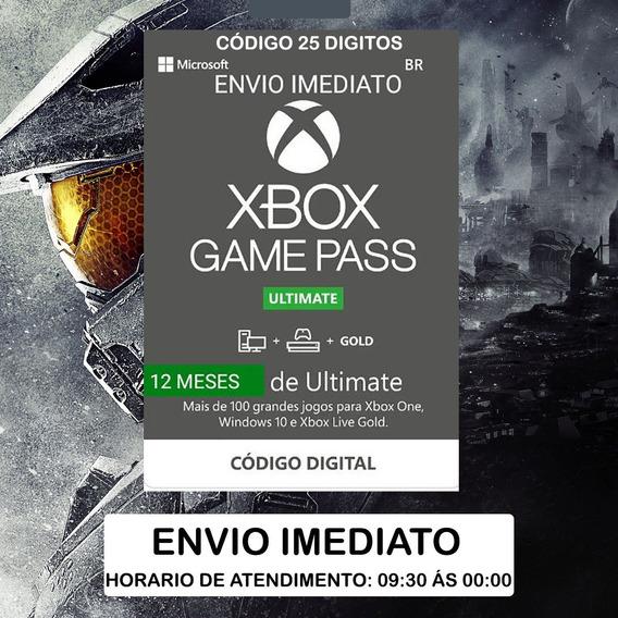 Game Pass Ultimate 12 Meses Código 25 Dígitos - Xbox One Br