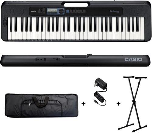 Combo Teclado Casio Ct S300 + Funda + Soporte + Fuente
