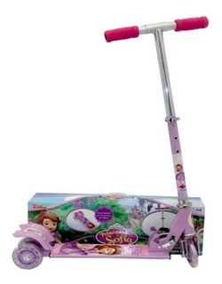 Scooter Disney Sofia Patin Del Diablo Ajustable Niña Luz Led
