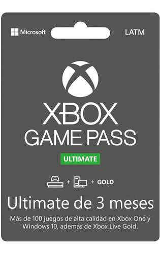 Imagen 1 de 1 de Microsoft Xbox Game Pass Ultimate - 3 Meses