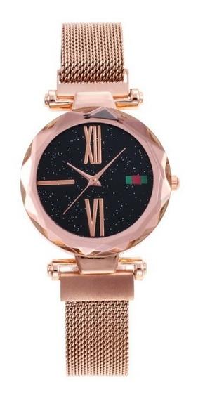 Reloj Magnetico Mujer Corte Diamante Dama Fashion Moda