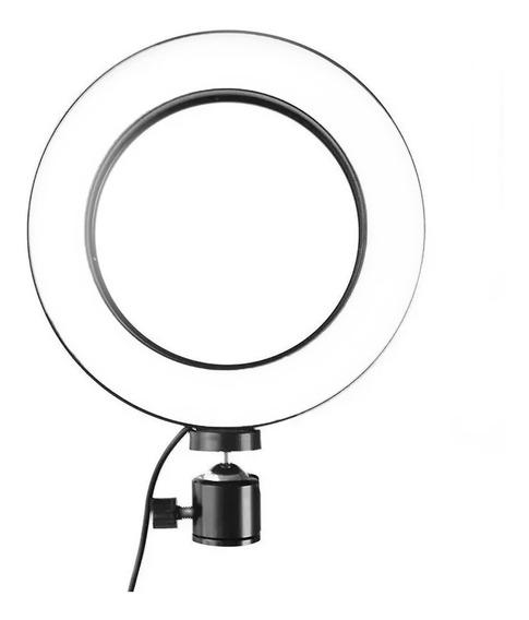 Iluminador Led Ring Light Maquiagem Make Fotos Selfie Usb