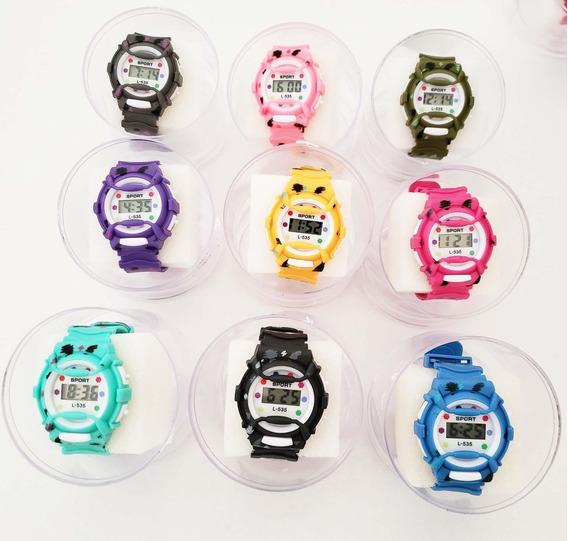 Kit Com 6 Relógios Infantil Digital+caixas Atacado