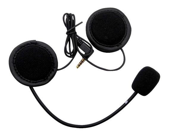 Kit Auriculares Microfono Intercomunicador V6 1200 V4 E6 Ejeas - Um