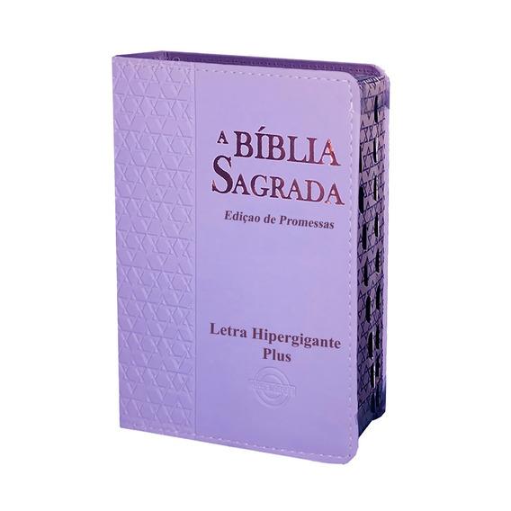 Bíblia Hiper Giga Plus Estrela De Davi Feminina 14x21 Lilás