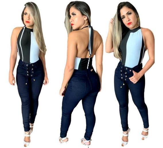 10 Calças Jeans Feminina Hot Pants Cintura Alta C/ Lycra Cça