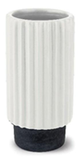 Vaso Decorativo Cerâmico Delta Branco 14,5 Cm