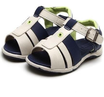Sandália Azul E Bege Fivela Pimpolho 32746c