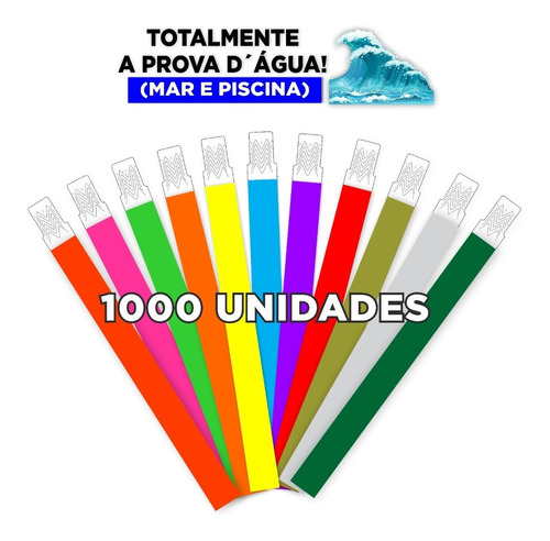 Imagem 1 de 6 de Promoção!! Pulseira De Identificação Festas, Eventos1000 Un.