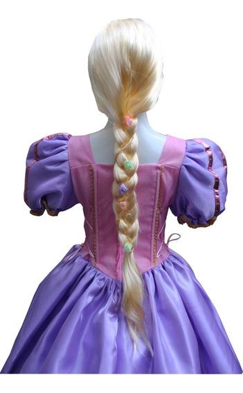 Peluca Rapunzel Con Flores Niña Envío Gratis