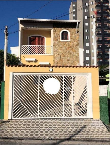 Sobrado Com 4 Dormitórios Para Alugar, 290 M² Por R$ 2.800/mês - Vila Curuçá - Santo André/sp - So0447