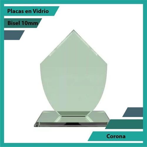 Placas En Vidrio Forma Corona