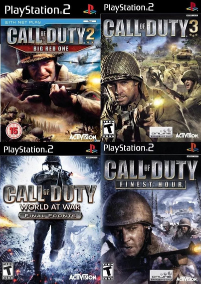 Call Of Duty Collection ( 4 Jogos ) Ps2 Desbloqueado Patch