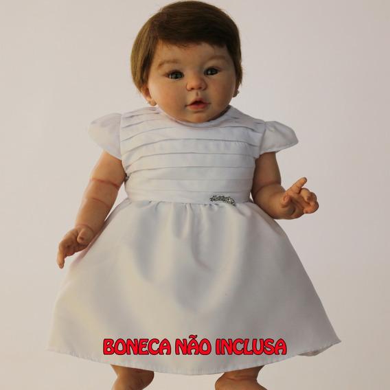 Roupa De Boneca Vestido Branco Katitus