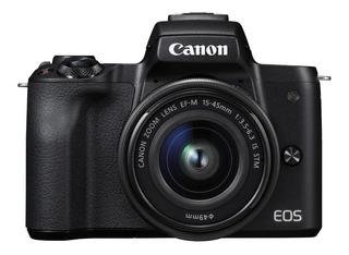 Camara Canon Eos M50 15-45 + Objetivo Ef-m 55-200