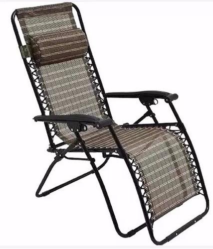 Cadeira Confortável Servilha Reclinável Camping Ou Praia