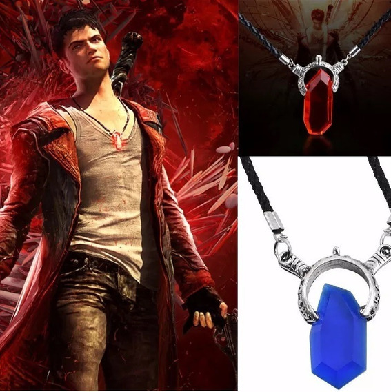 Collar Devil May Cry Dante Piedra Roja O Azul