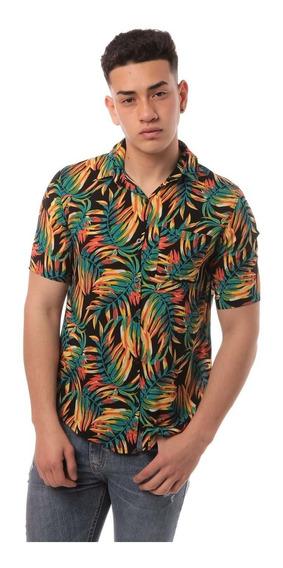 Camisa Estampada M/c Hombre
