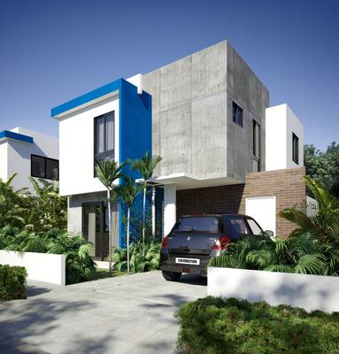 Casas De 2 Niveles Cerca A Ciudad Juan Bosch