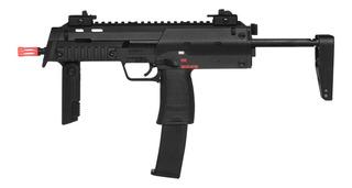 Rifle De Airsoft À Gás Gbb Green Gás H&k Mp7 Black Blowback