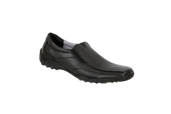Zapato Escolar Triples Negro Elástico Mod. Mauro Adulto