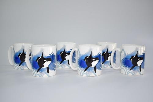 Taza Mug 325 Ml Orca Mundo Marino Promo *6 Unidades