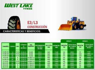 Llanta 17.5-25 (16) E3/l3 West Lake