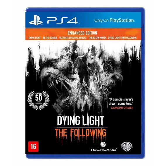 Game Ps4 Dying Light The Following - Original - Novo