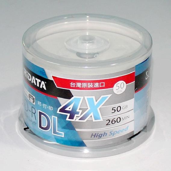 50 Blu-ray Bd-r Dl 50gb Printable [pino] Ritek Ridata Japan