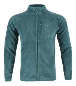 Poleron Hombre Lippi Numan Nano-f Shaggy Jacket Verde I19